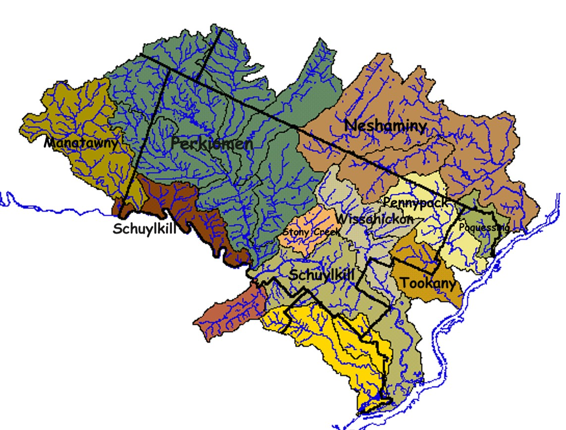 Montgomery County CD Watershed Maps